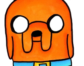 Jake the Dog from Adventure Time – Scooby Style Sketch Card