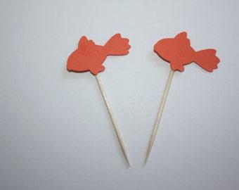 24 mini food picks -  Goldfish
