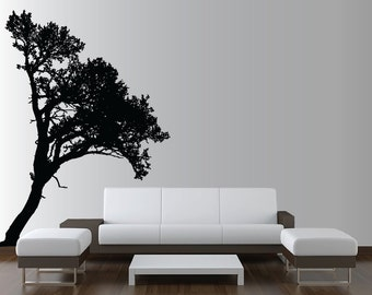 Large Wall Tree Decal Forest Deco Vinyl Sticker Highly Detailed Removable Nursery 1118 (8 feet tall)