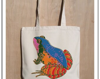 Frog - Eco Friendly Cotton Canvas Tote Bag