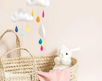 Rainbow, baby mobile, cloud mobile.Nursery decor, Gender neutral nursery inspiration-montessori mobile.cot mobile.baby mobile.rainbow
