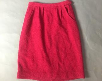 Vintage 60s skirt / 1960s skirt / tweed skirt / wool skirt / Pencil Skirt / Mod skirt  / Wiggle Skirt / 8351