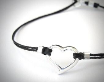 Sterling Heart Bracelet, Love Anniversary bracelet, Bridesmaid gift,  gift, ready to ship, gift for her, gift for womangraduation gift