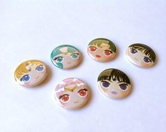 Sailor Moon Season 3 Button 6-pack (2nd edition)