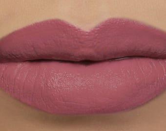 """Matte Lipstick - """"Cherub"""" mauve pink vegan natural lipstick"""