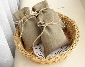 SET OF 100 Wedding Favor Bags, Burlap Gift Bags, Rustic Candy Bags - 4 х 6