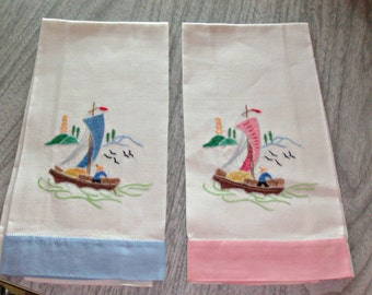 Vintage Set of 2 Linen Towels