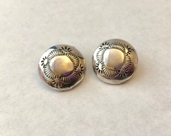 Navajo Native American Sterling Clip-On Earrings FREE SHIPPING