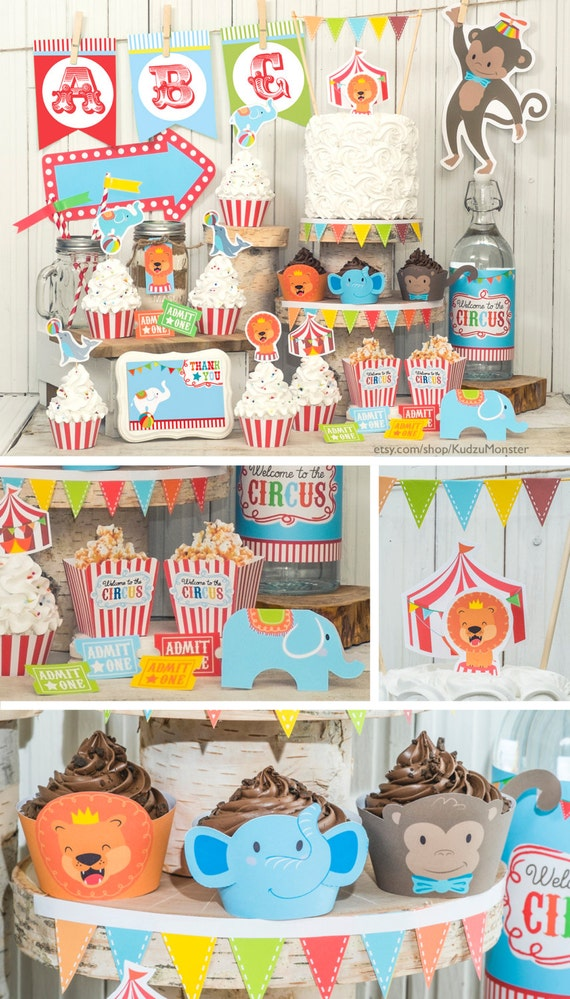 Circus Party animal carnival jungle baby shower printable