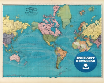 Vintage world map etsy digital old world map gumiabroncs Images