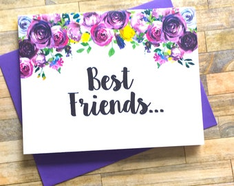 Pregnancy Announcement Card - Pregnancy Reveal to Best Friend Card - New Auntie - We Are Having a Baby Card - Pregnancy - VIOLETS