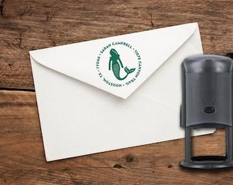 Mermaid Custom Rubber Address Stamp