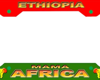 ETHIOPIA AFRICA  License Plate Frame Novelty Tag