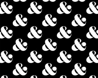 Black Set Ampersand fabric by Ampersand Design Studio for Windham Fabrics-# 39744-1