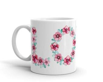 Love flower floral coffee Mug
