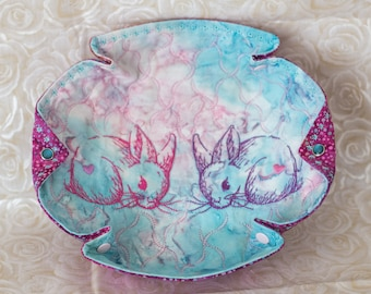 Easter 'Bunny Love' Double Sweetheart Bunny Katch-All Medium Hex/Octo
