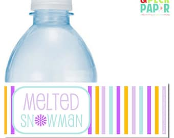 SAMPLE SALE - 50% OFF - Melted Snowman Bottle Labels