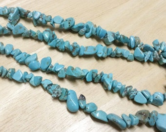 Turquoise Chips Beads Strand, Size 5-8 mm (GC 11)