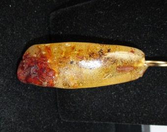 Amber Copalite Pendant, gold bail 30ct