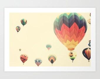 Hot air balloon nursery decor, wall art canvas art, large wall art, extra large wall art, canvas wall art, nursery wall art, wall art