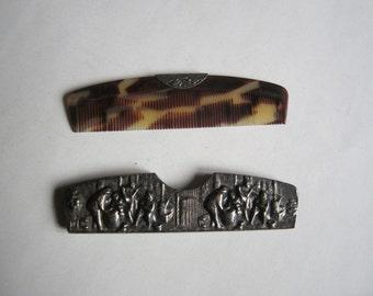 vintage hair comb in case, Denmark