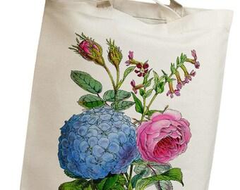 Colorful Flowers Vintage 02 Eco Friendly Canvas Tote Bag (ilp002)