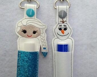 Elsa or Olaf Lip Balm Holder
