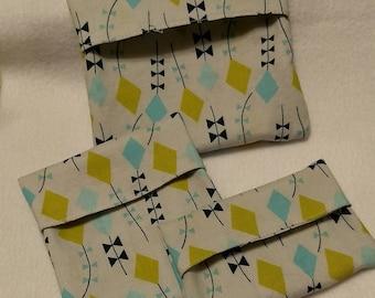 Organic Cotton Reusable Snack Bags set of 3