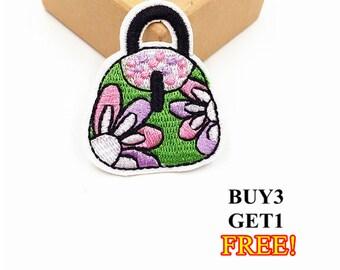 1Pcs 4.2x5CM Handbag Patch Purse Patch Embroidery Applique Embroidery Patch Iron on Patch Girly Patch