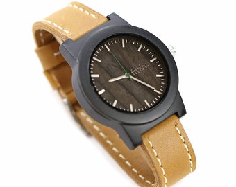 5 year Anniversary Gift, Mens Wooden Watch, Real Wood Mens Watch - BRLY-L