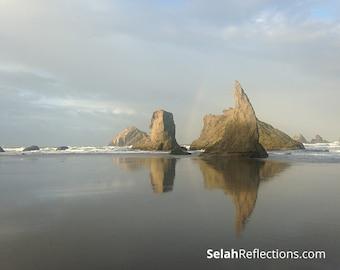 Bandon Oregon Wizards Hat Digital Download Photo, Fine Art Photography - Oregon Coast - Beach