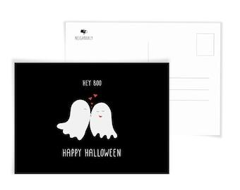 Hey Boo, Halloween Postcard