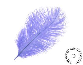 """Ostrich Feathers - Wholesale Wedding Feathers Ostrich Drab Plumes - Lilac - 10pcs (14-17"""")"""