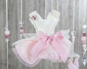 Girl Baby Mobile, Dresses Baby Mobile, Girl Dress Baby Mobile, Baby Dress, Pink Baby Dress, Baby Room, Baby Decoration, Baby Girl,  Mob111