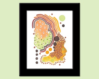 Colors of the Day 62 - Colorful Contemporary Modern Abstract Art Print by Megan Q.C. Gallagher