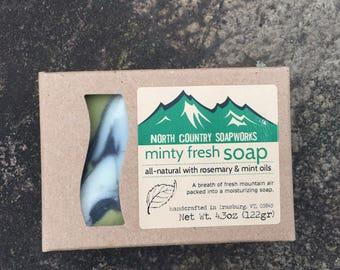 Minty Fresh Soap - handmade in Vermont
