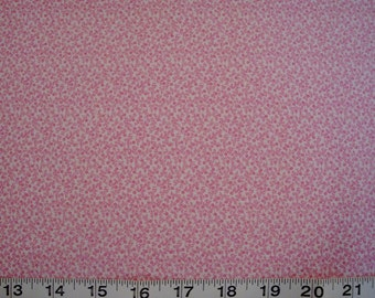 Troy, Pink and White Floral Quilt Fabric Sold by the Half Yard