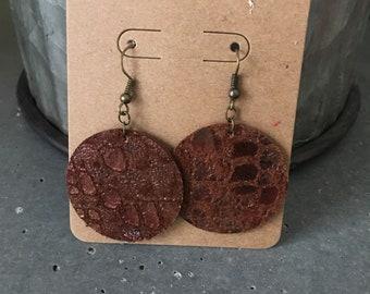Snakeskin Print Earrings