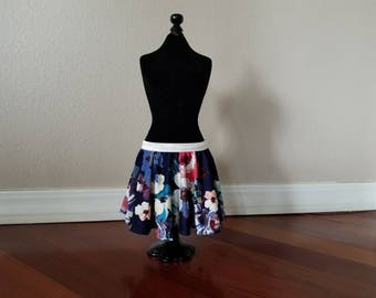 Navy Floral Baby Skirt