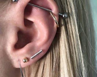 Silver Bar Earrings, Silver Stud Earrings, Bar Stud Earrings, Minimalist Studs, Tiny Stud Earrings, Silver Bar Studs, Bar Stud Earrings