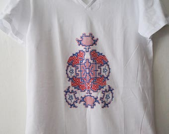 Shipibo Man t-shirt. Screenprint. M size