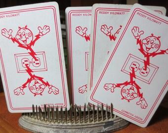 Vintage Playing Cards Reddy Kilowatt - Set of 8 cards