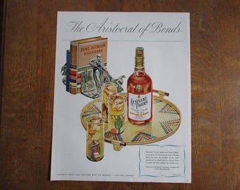 1946 Original Vintage Kentucky Tavern Straight Bourbon Whiskey ad