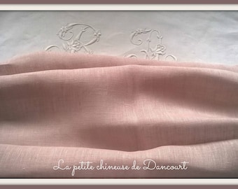 Coquecigrues lilac linen by the yard
