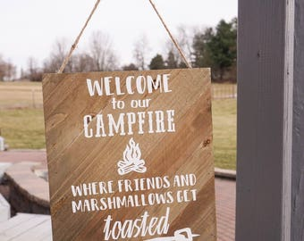 Friendly Campfire Sign