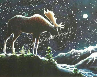 """8x 10 archival signed print of """"Moose light"""""""