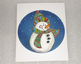 Snowman 3D Jiggle Birthday Card Interactive Action Wobble