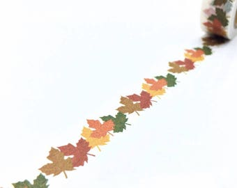 Washi Tape - Maple Leaf  in Autumn - no.770 // 15mm x 10m