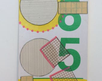 "Original Flashcard Painting ""8+5"""