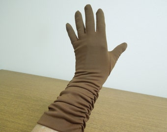 Vintage Gloves  Gorgeous Brown FREE Shipping